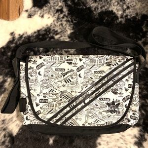 Adidas Original graffiti laptop messenger bag